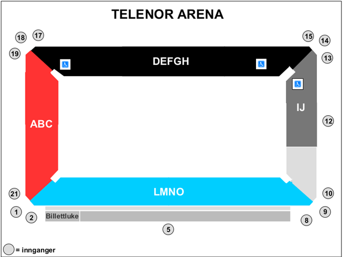 Seating map_X Games Norway 2019